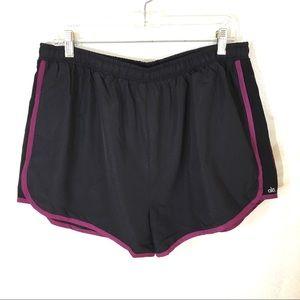 NWT Alo Black Running shorts size XXL